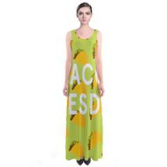 Bread Taco Tuesday Sleeveless Maxi Dress