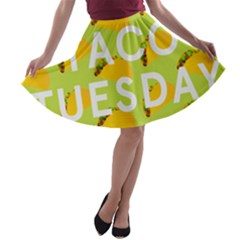 Bread Taco Tuesday A-line Skater Skirt