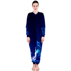 Abstract Musical Notes Purple Blue OnePiece Jumpsuit (Ladies)