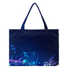 Abstract Musical Notes Purple Blue Medium Tote Bag