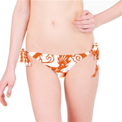 Chinese Zodiac Dragon Star Orange Bikini Bottom