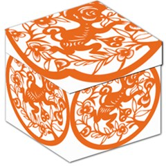 Chinese Zodiac Horoscope Monkey Star Orange Storage Stool 12