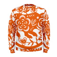 Chinese Zodiac Horoscope Pig Star Orange Men s Sweatshirt