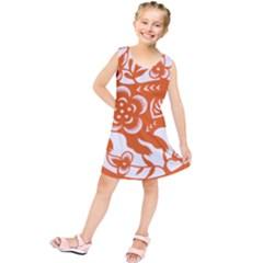 Chinese Zodiac Horoscope Pig Star Orange Kids  Tunic Dress