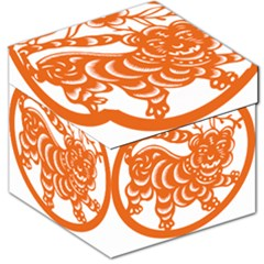 Chinese Zodiac Signs Tiger Star Orangehoroscope Storage Stool 12