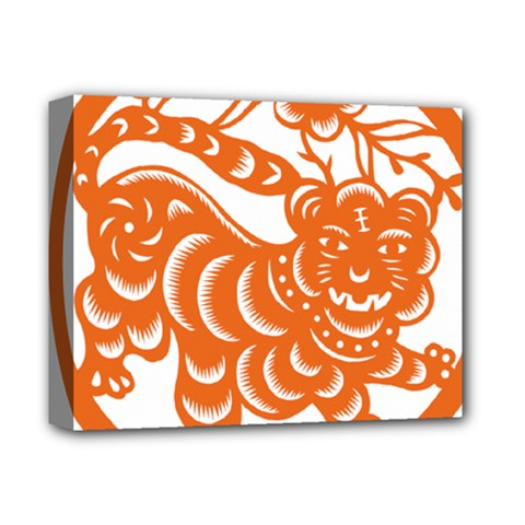 Chinese Zodiac Signs Tiger Star Orangehoroscope Deluxe Canvas 14  x 11