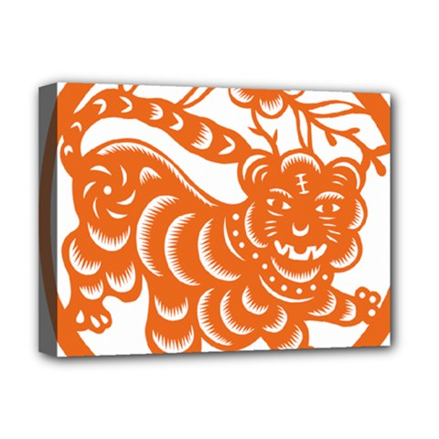 Chinese Zodiac Signs Tiger Star Orangehoroscope Deluxe Canvas 16  x 12