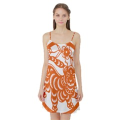 Chinese Zodiac Signs Tiger Star Orangehoroscope Satin Night Slip