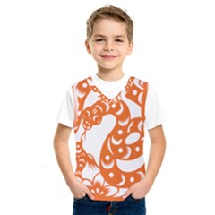 Chinese Zodiac Horoscope Snake Star Orange Kids  Sportswear