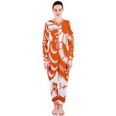 Chinese Zodiac Horoscope Zhen Icon Star Orangechicken OnePiece Jumpsuit (Ladies)