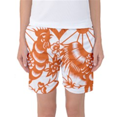 Chinese Zodiac Horoscope Zhen Icon Star Orangechicken Women s Basketball Shorts