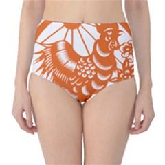 Chinese Zodiac Horoscope Zhen Icon Star Orangechicken High-Waist Bikini Bottoms