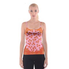Distance Absence Sea Holes Polka Dot Line Circle Orange Chevron Wave Spaghetti Strap Top