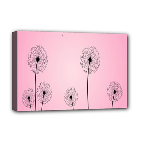Flower Back Pink Sun Fly Deluxe Canvas 18  x 12