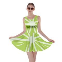 Gerald Lime Green Skater Dress