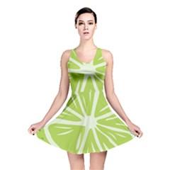 Gerald Lime Green Reversible Skater Dress
