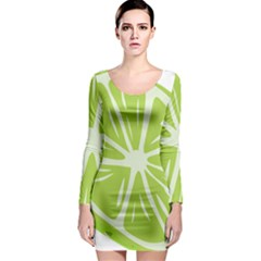 Gerald Lime Green Long Sleeve Bodycon Dress
