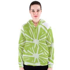 Gerald Lime Green Women s Zipper Hoodie