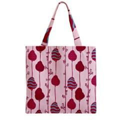 Flower Floral Mpink Frame Grocery Tote Bag