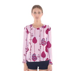 Flower Floral Mpink Frame Women s Long Sleeve Tee