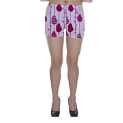 Flower Floral Mpink Frame Skinny Shorts