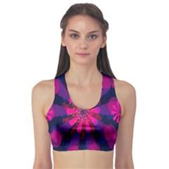Flower Red Pink Purple Star Sunflower Sports Bra