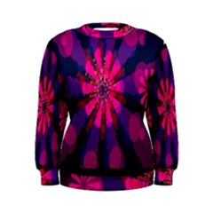 Flower Red Pink Purple Star Sunflower Women s Sweatshirt