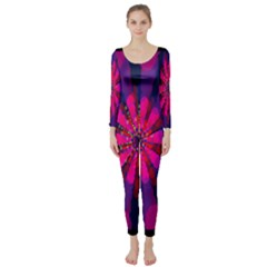 Flower Red Pink Purple Star Sunflower Long Sleeve Catsuit