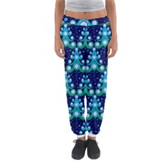 Christmas Tree Snow Green Blue Women s Jogger Sweatpants