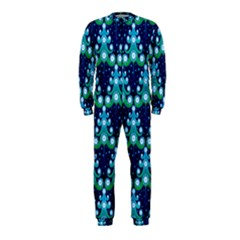 Christmas Tree Snow Green Blue OnePiece Jumpsuit (Kids)