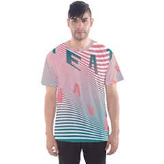 Heat Wave Chevron Waves Red Green Men s Sport Mesh Tee
