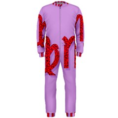 Illustrated Zodiac Purple Red Star Polka OnePiece Jumpsuit (Men)