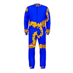 Illustrated 69 Blue Yellow Star Zodiac OnePiece Jumpsuit (Kids)