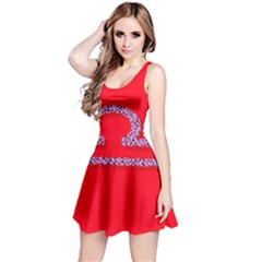 Illustrated Zodiac Red Purple Star Polka Reversible Sleeveless Dress