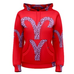 Illustrated Zodiac Red Star Purple Women s Pullover Hoodie