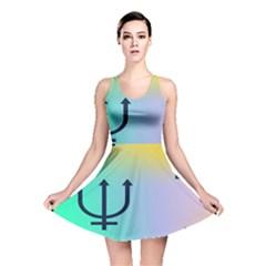 Illustrated Zodiac Star Reversible Skater Dress