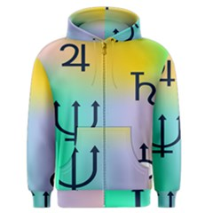 Illustrated Zodiac Star Men s Zipper Hoodie