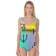 Illustrated Zodiac Star Princess Tank Leotard