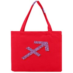 Illustrated Zodiac Star Red Purple Mini Tote Bag
