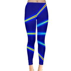 Light Neon Blue Leggings