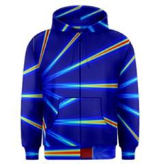 Light Neon Blue Men s Zipper Hoodie