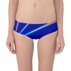 Light Neon Blue Classic Bikini Bottoms