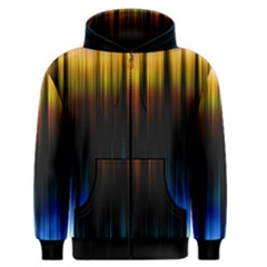 Light Orange Blue Men s Zipper Hoodie