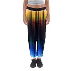 Light Orange Blue Women s Jogger Sweatpants