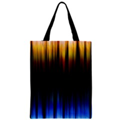 Light Orange Blue Zipper Classic Tote Bag
