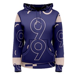 Number 9 Blue Pink Circle Polka Women s Pullover Hoodie