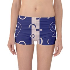 Number 9 Blue Pink Circle Polka Boyleg Bikini Bottoms