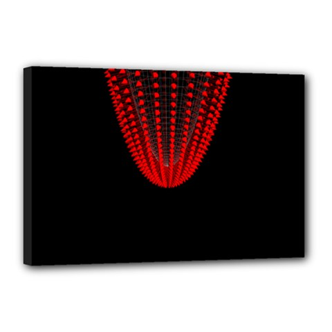Normal Field Of An Elliptic Paraboloid Red Canvas 18  X 12