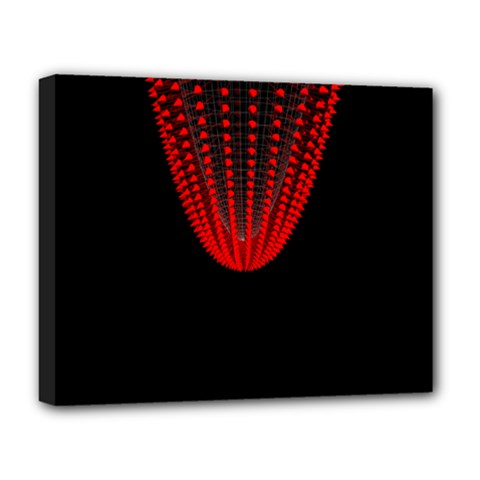 Normal Field Of An Elliptic Paraboloid Red Deluxe Canvas 20  x 16