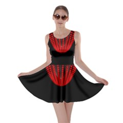 Normal Field Of An Elliptic Paraboloid Red Skater Dress